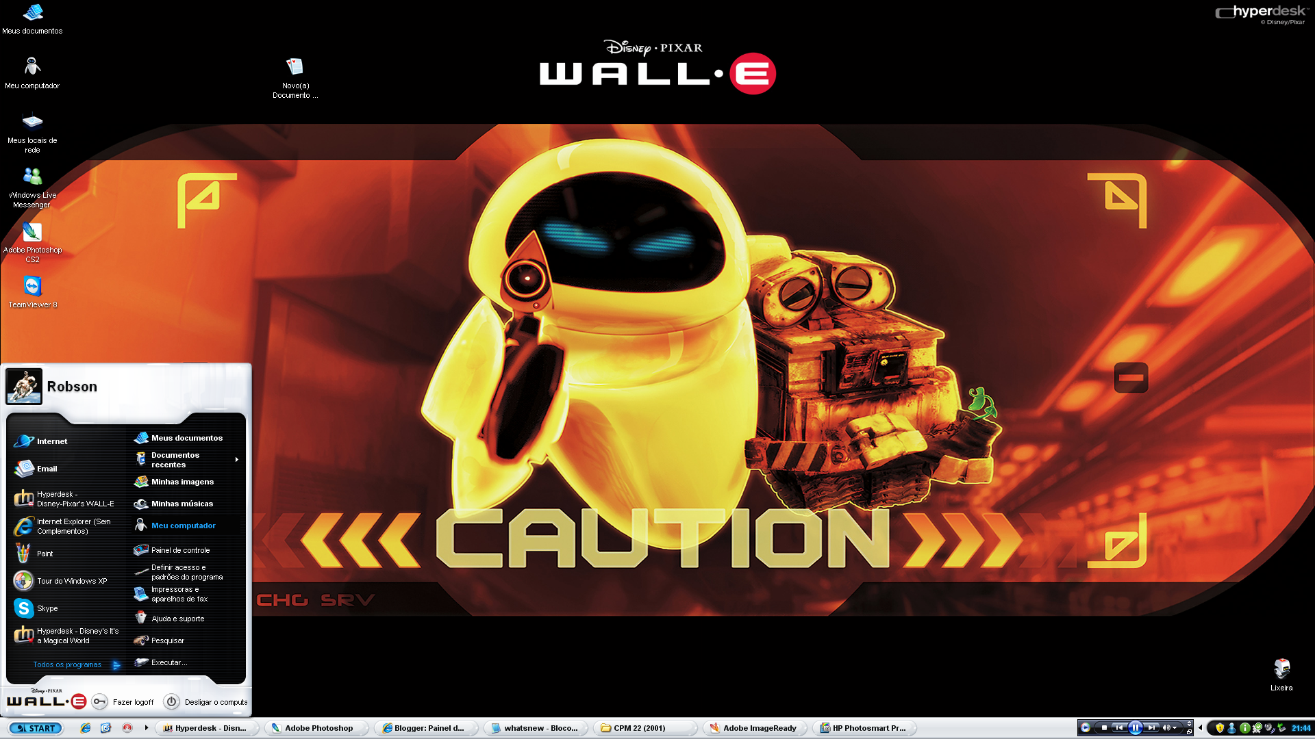 Disney Pixar Wall E Hyperdesk By Robson2012 On Deviantart