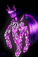 Cyborg Twilight Sparkle by NightmareMagic13