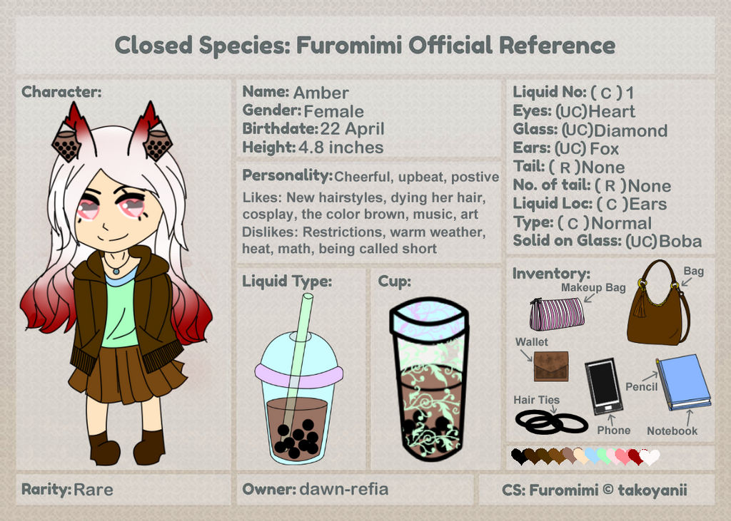 Amber Reference (Updated) by dawn-refia