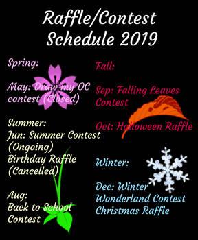 Raffle/Contest Schedule 2019