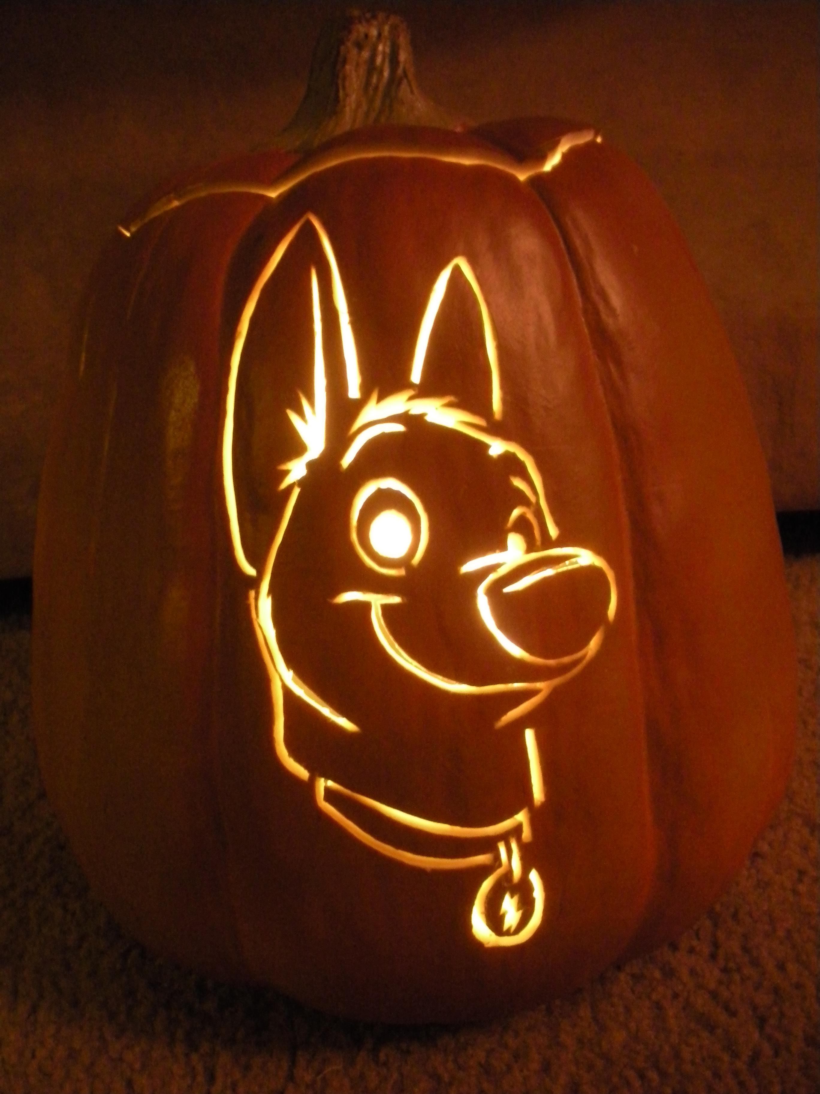 Bolt Pumpkin Carving by acappellasaurus on DeviantArt