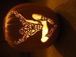 Spider-Man Pumpkin Carving by acappellasaurus