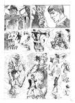 Test pages for the comic Dylan Dog
