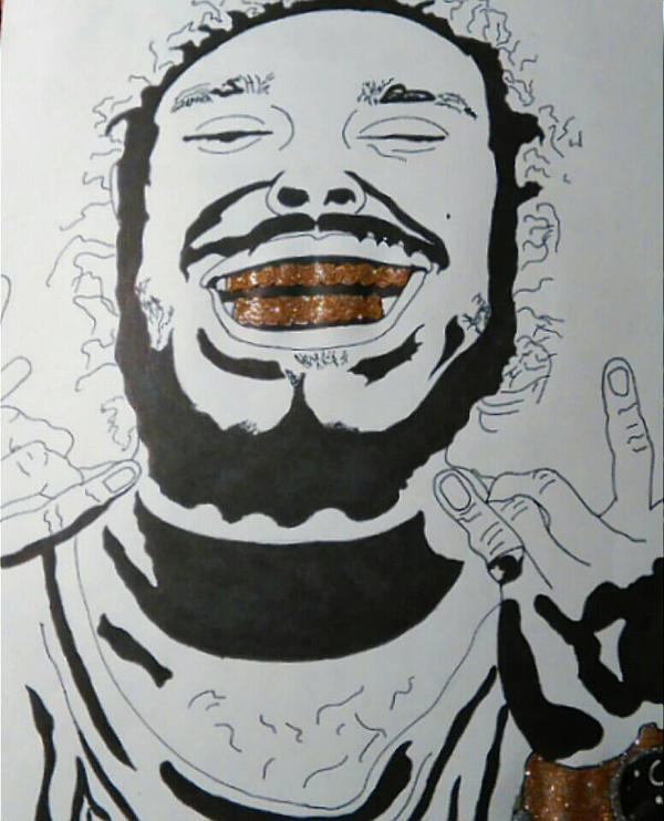 Post Malone Drawing: Post Malone By Therapix42 On DeviantArt