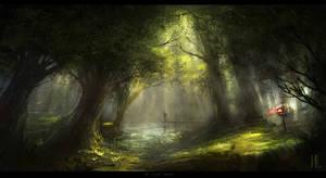 The Silent Forest speedart Ipad on Procreate