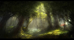 The Silent Forest speedart Ipad on Procreate by RaZuMinc
