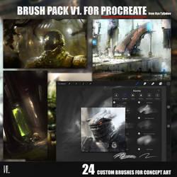 Custom Brush pack vol1 for Procreate app (Ipad) by RaZuMinc
