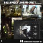 Custom Brush pack vol1 for Procreate app (Ipad)