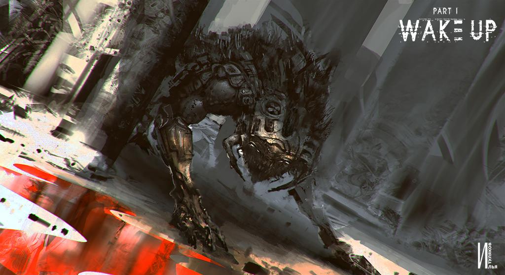 Concept art Cyborg beast paint on Ipad by RaZuMinc