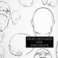 Head Designer for Procreate by RaZuMinc