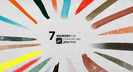 Concept art markers Procreate IPAD by RaZuMinc