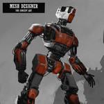 Quick Concept robot on Ipad Procreate