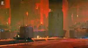 Sci-fi city done on IPAD by RaZuMinc