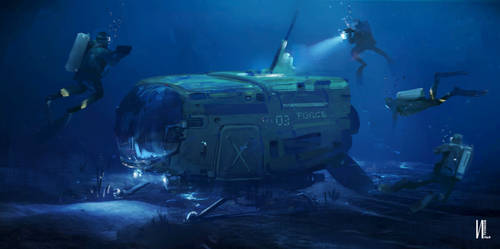 Deep sea Filmic keyframe v4 Procreate