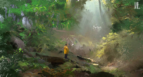 Keyframe v5 in Forest Procreate