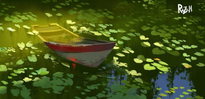Quick sketch boat (Procreate)