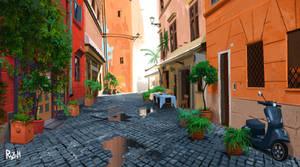 Street of Italy Procreate Virtual PleinAir Day7