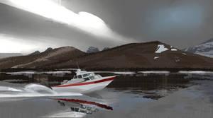 Boat Pleinairpril skethes Procreate