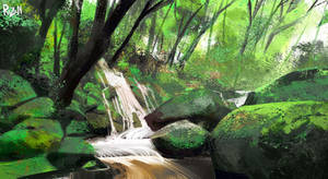 Pleinairpril Brook river Procreate