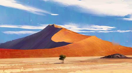 Namibia Desert Procreate Pleinartpril 29 day