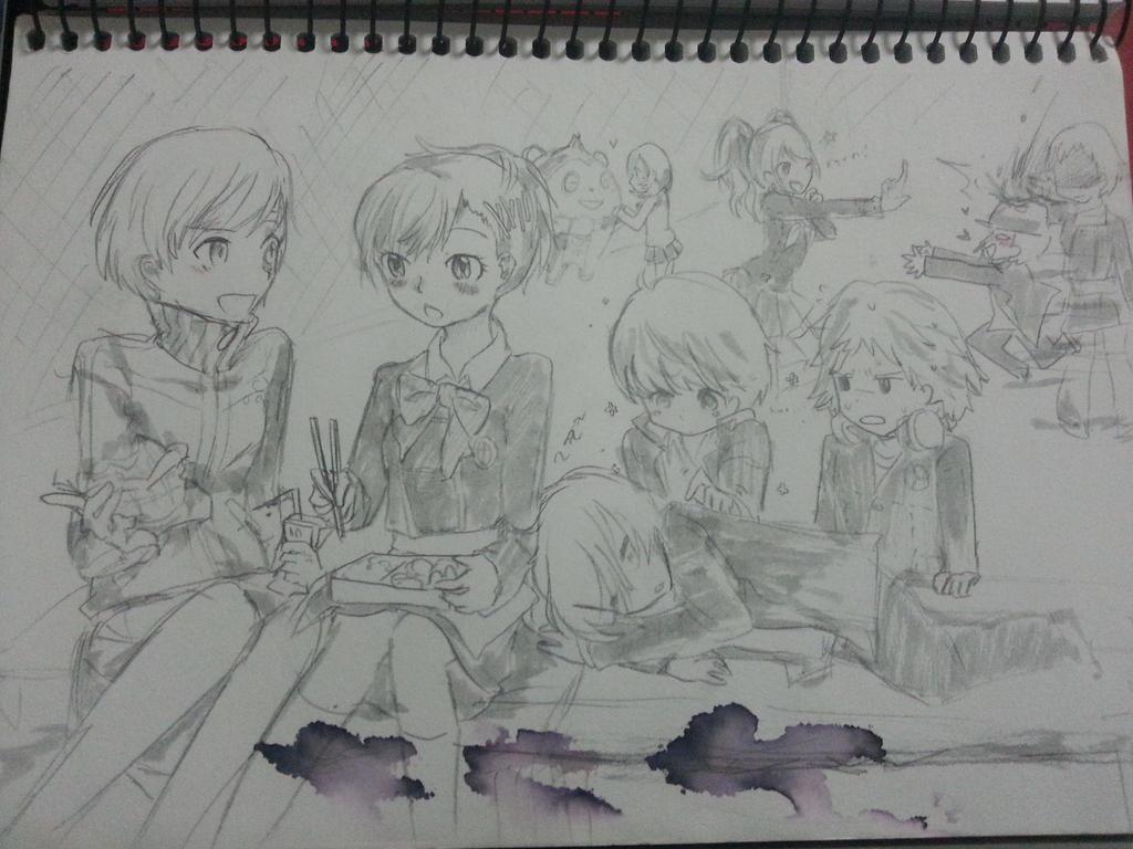 Persona sketchbook doodle dump by nabila300