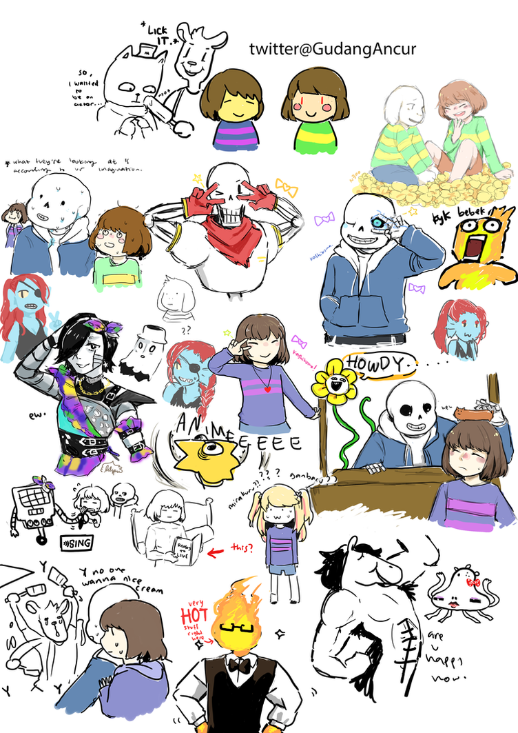 Undertale - Stream doodles by nabila300