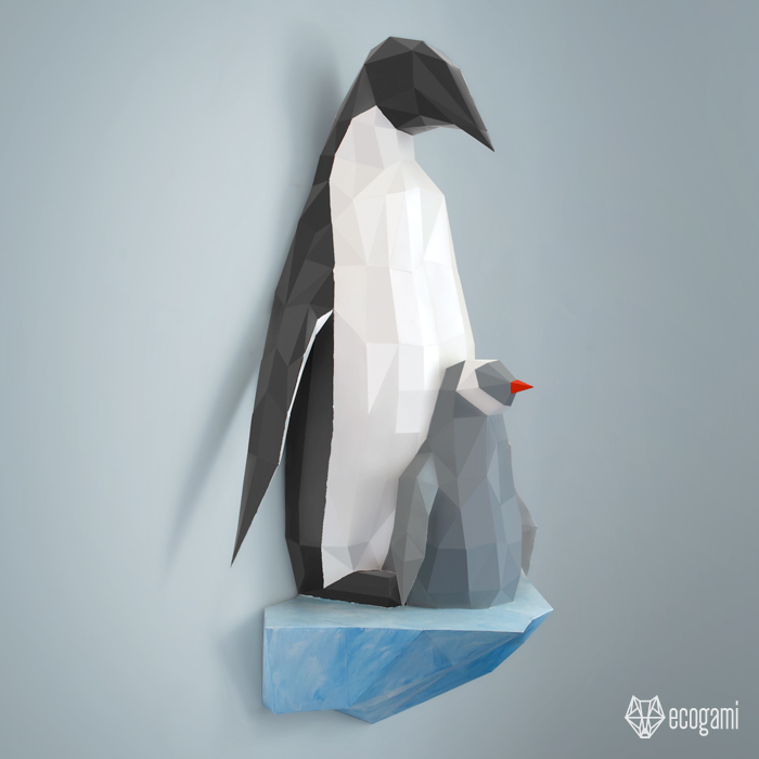 3d penguin paper toy penguin family papercraft by ecogamishop on deviantart 3301