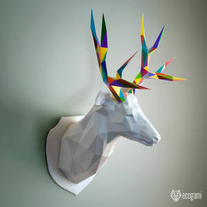 Deer trophy papercraft