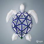 DIY papercraft project: Sea turtle