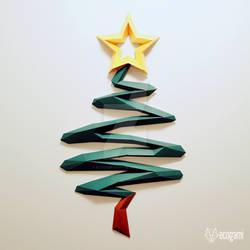 Modern papercraft Christmas tree