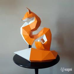 Papercraft fox