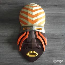 African mask papercraft sculpture