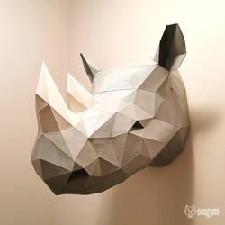 African rhino papercraft