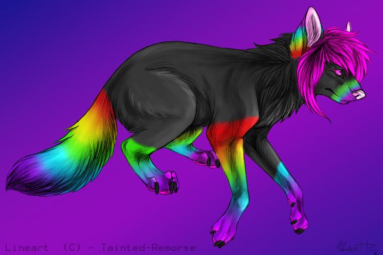 Black Rainbow Wolf Adoption By MinaSleeneSazuku On DeviantArt