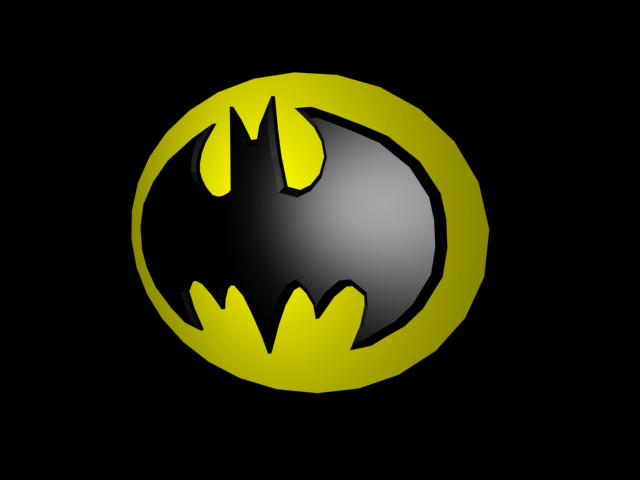 batman logo 3d...sorta by arkaic1 on DeviantArt