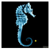 Fringe Glyph: Seahorse by lzsays
