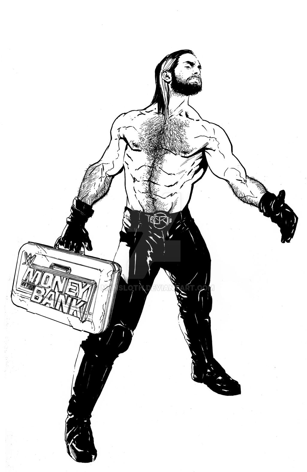Seth Rollins by mansloth on DeviantArt