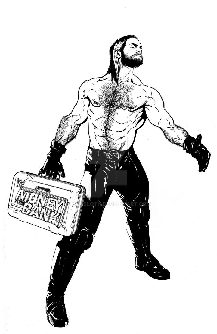 Seth rollins by mansloth on deviantart for Wwe raw coloring pages