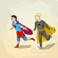 Superheroes by nongravity