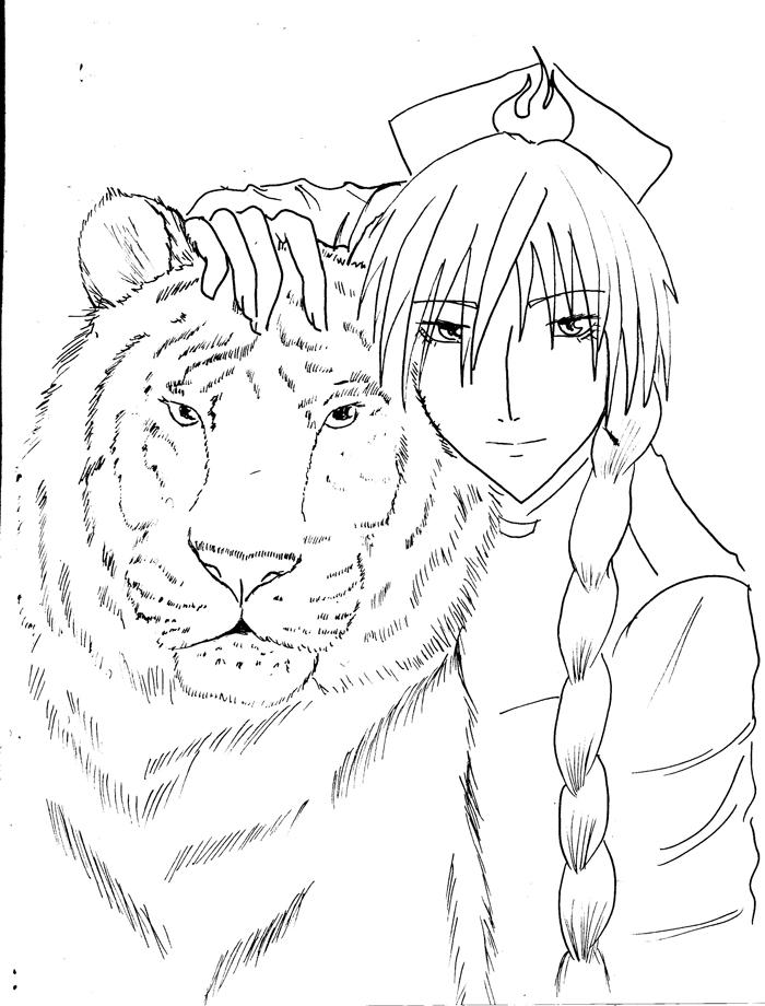 Line Art Tiger : Tiger line art by darkhartz on deviantart