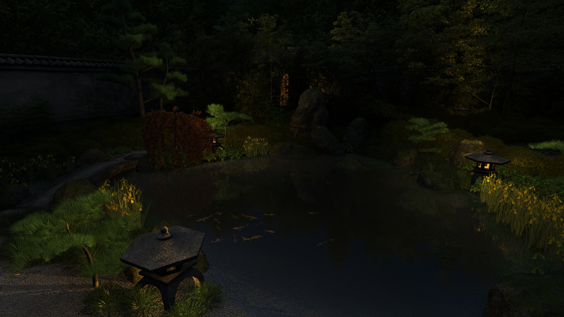 Japanese Garden At Night japanese tea garden nightjdaughtry on deviantart