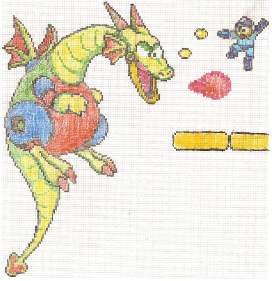 the big Dragon battle by artdragon1