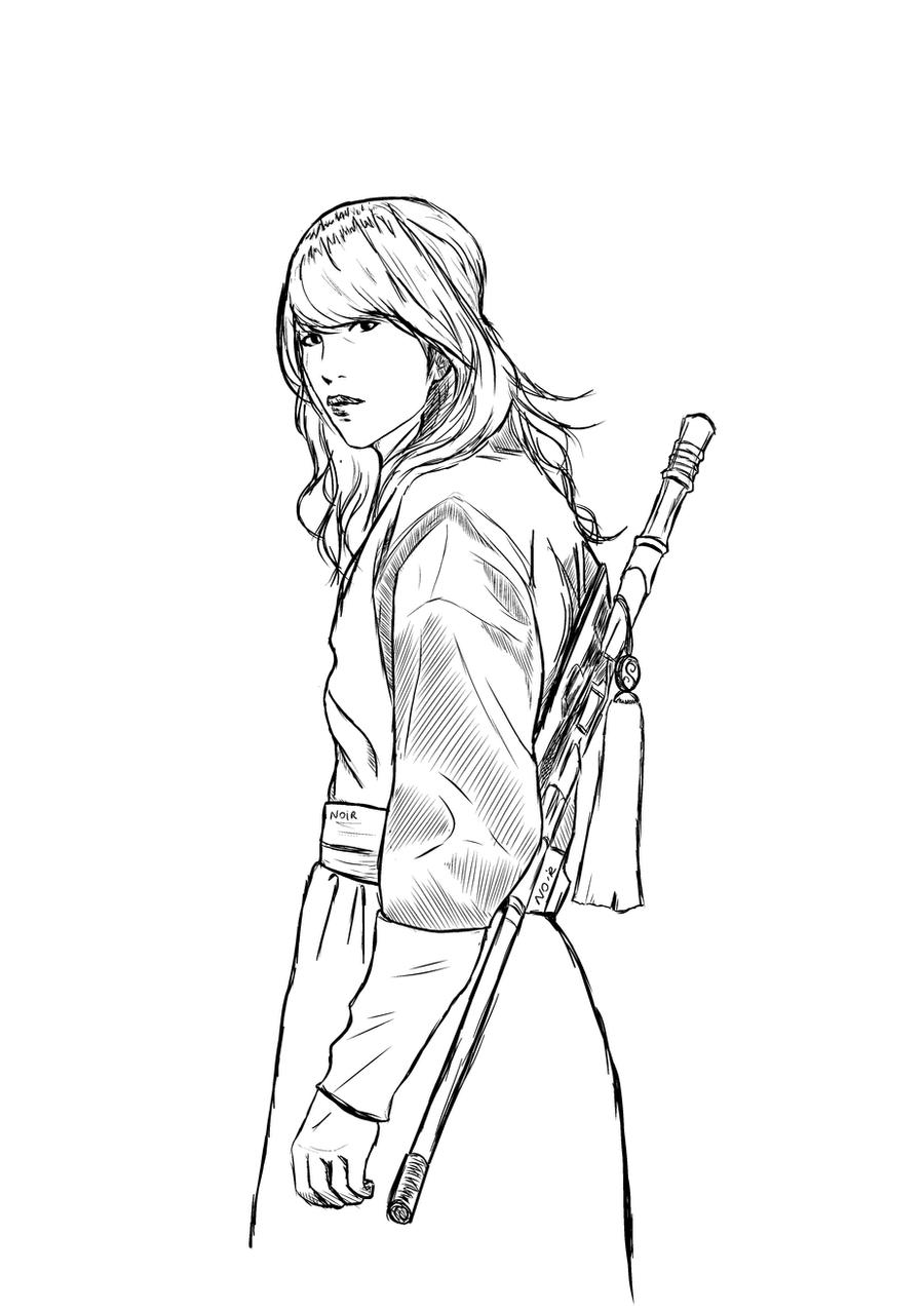 Line Art Kpop : Line korean warrior by lapinaru on deviantart