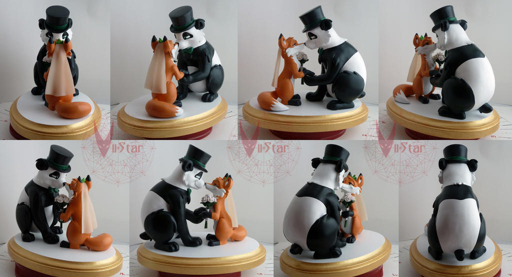 Fox and Panda Wedding by VIIStar
