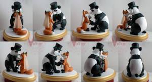 Fox and Panda Wedding