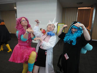 Pinkie Pie, Dr. Lolipop and Suppi-chan by BluOokami