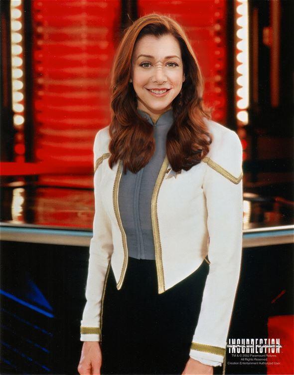 Alyson Hannigan as a Bajoran Starfleet Officer by thatgeekchick