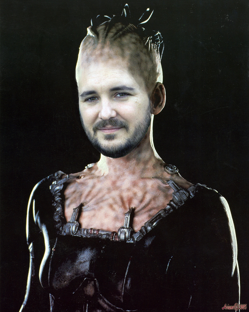 Wil Wheaton as the Borg Queen by thatgeekchick