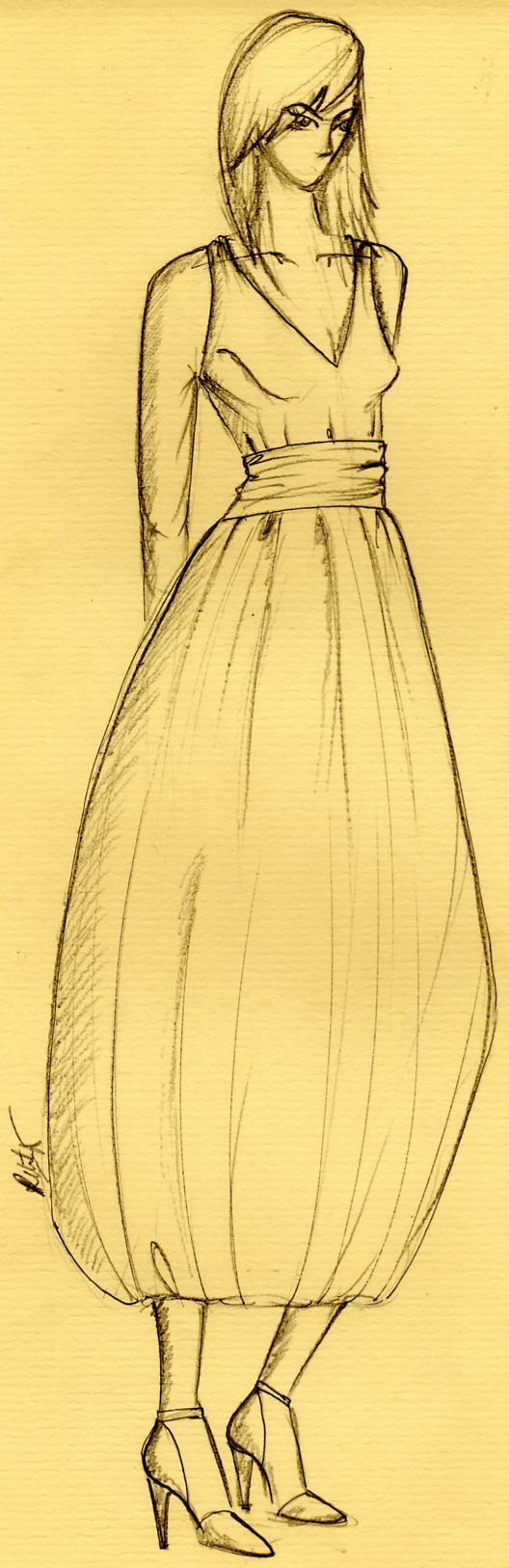 cocktail dress sketch by ~2l7