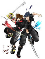 Sora and Noctis by Outering